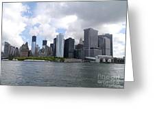 Manhattan Skyline From The Hudson River Greeting Card
