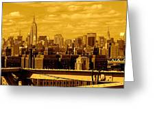 Manhattan Skyline Greeting Card