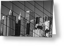 Manhattan Through The Brooklyn Bridge Greeting Card