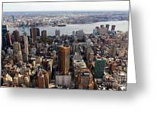 Manhattan View Towards Brooklyn Greeting Card