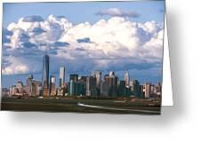 Manhattanincloudbank Greeting Card