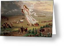 Manifest Destiny 1873 Greeting Card by Photo Researchers