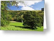 Manifold Valley And Dovecote - Swainsley Greeting Card