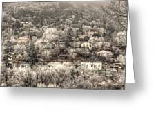 Manitou To The South In Snow Close Up Greeting Card