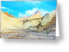 Manly Beacon From Golden Canyon In Death Valley National Park-california Greeting Card