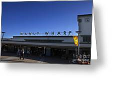 Manly Wharf Greeting Card