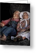 Mannequin Old Couple In Shop Window Display Color Photo Greeting Card
