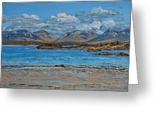 Mannin Bay And The Twelve Bens Mountains Connemara Ireland Greeting Card