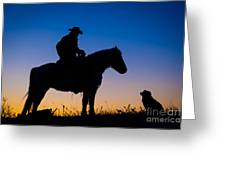 Man's Best Friend Greeting Card by Inge Johnsson