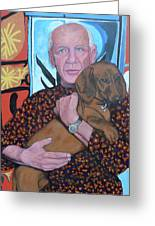 Man's Best Friend Greeting Card by Tom Roderick