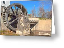 Mansfield Mill Water Wheel Greeting Card