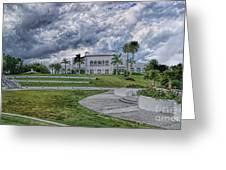 Mansion At Tuckahoe In Jensen Beach Florida Greeting Card