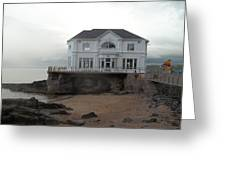 Mansion By The Sea Greeting Card