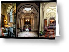 Mansion Hallway Triptych Greeting Card