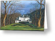 Mansion In The Woods Greeting Card