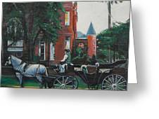 Mansion On Forsythe Savannah Georgia Greeting Card