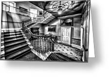 Mansion Stairway V2 Greeting Card