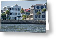 Mansions By The Water Greeting Card