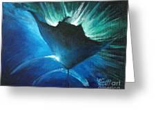 Manta At The Surface Greeting Card