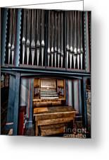 Manual Pipe Organ Greeting Card