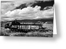 Manure Spreader 1 Bw Greeting Card