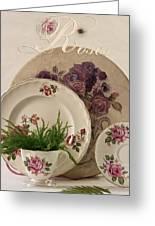 Many Rose Designs Still Life  Greeting Card