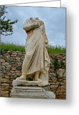 Many Sculptures Lost Their Heads In Ephesus-turkey Greeting Card