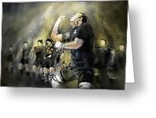 Maori Haka Greeting Card by Miki De Goodaboom