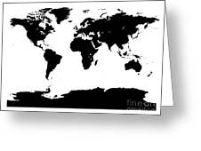 Map In Black And White Greeting Card