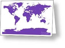 Map In Purple Greeting Card