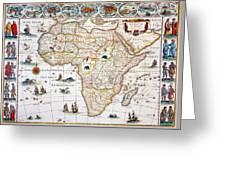 Map Of Africa, 1630 Greeting Card