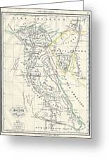 Map Of Ancient Egypt Greeting Card