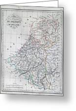 Map Of Belgium And Holland Or The Netherlands Greeting Card