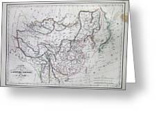 Map Of China And Japan Greeting Card