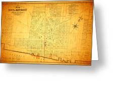 Map Of Detroit Michigan C 1835 Greeting Card