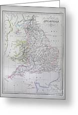 Map Of England Greeting Card