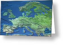 Map Of Europe Greeting Card