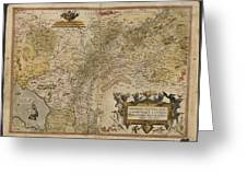 Map Of Gelderland And Cleves Greeting Card
