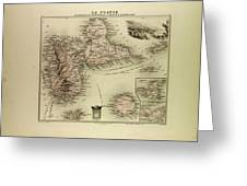 Map Of Guadeloupe St. Martin And St Greeting Card