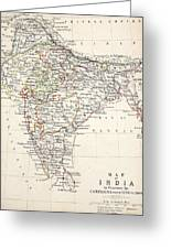 Map Of India Greeting Card