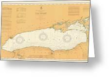 Map Of Lake Ontario 1904 Greeting Card