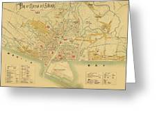Map Of Manila 1899 Greeting Card