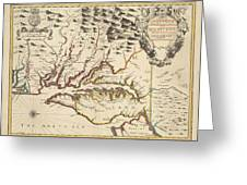 Map Of Maryland 1676 Greeting Card