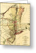 Map Of New York And New Jersey Greeting Card