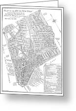 Map Of New York City, 1803 Greeting Card