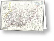 Map Of Russia In Asia And Siberia Greeting Card