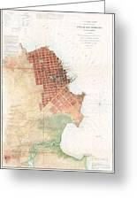 Map Of San Francisco California Greeting Card