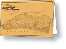 Map Of Sausalito 1868 Greeting Card