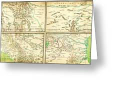 Map Of Spanish Holdings In North America 1769 Greeting Card
