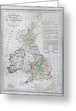 Map Of The British Isles  Greeting Card